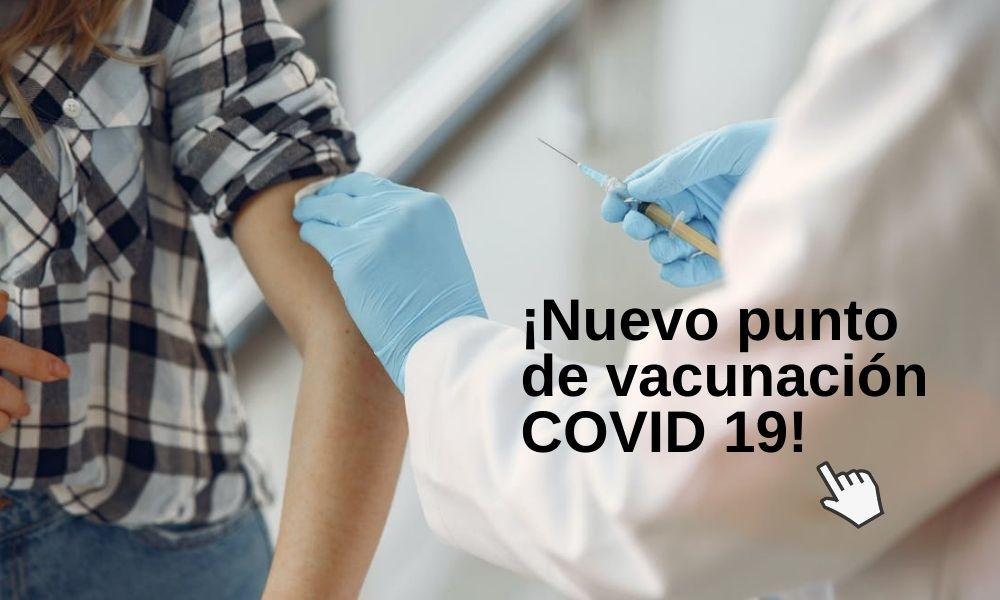Punto de vacunación COVID 19 en Centro Mayor