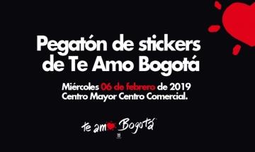 PEGATÓN STICKERS #TeAmoBogotá