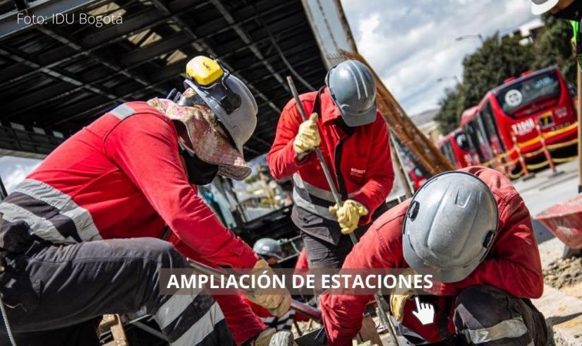 Ampliación estaciones de TransMilenio